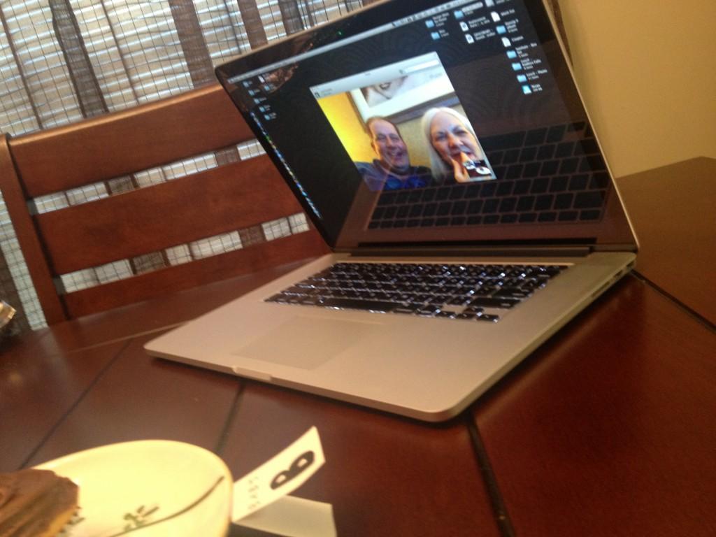 My Parents via Skype
